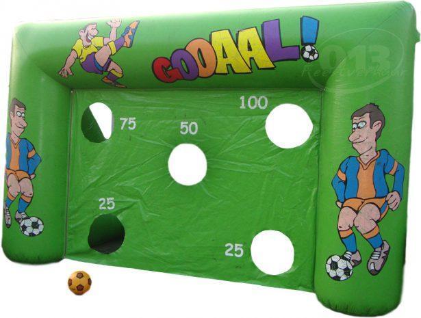 voetbaldoel opblaasbaar huren